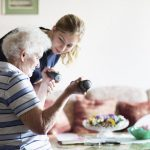 Volunteering younger person and older person