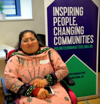 Volunteer Halimah at the launch of Futures East